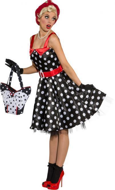 online store 1b09f 88f43 Rock'n Roll Rockabilly Kleid schwarz/weiß mit Punkten