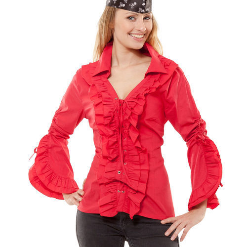 Piratenbluse de Luxe, rot
